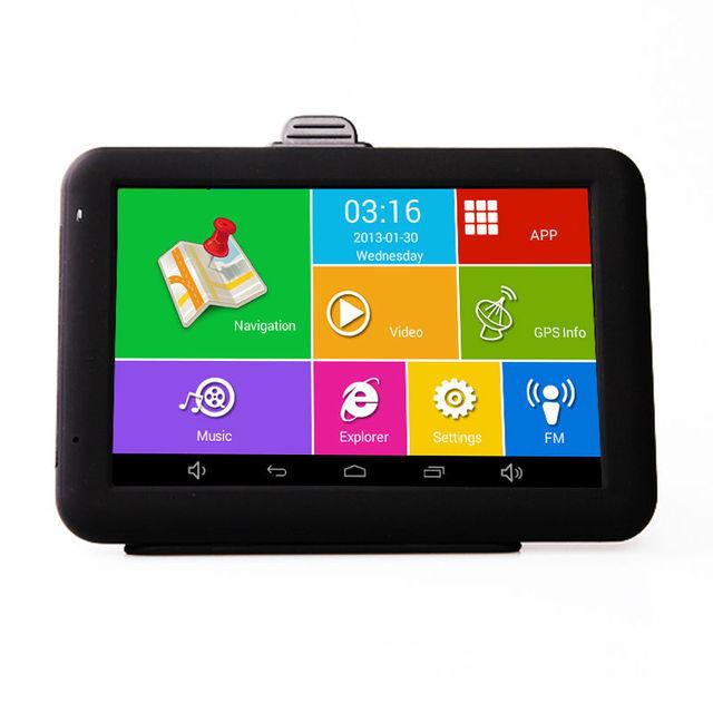 5 дюймов Емкостный Android GPS Автомобильный GPS навигатор MTK8127 Quad Core 8 Г хранения 1 Г ROM WI-FI Bluetooth AV-IN Навигации бесплатно карты
