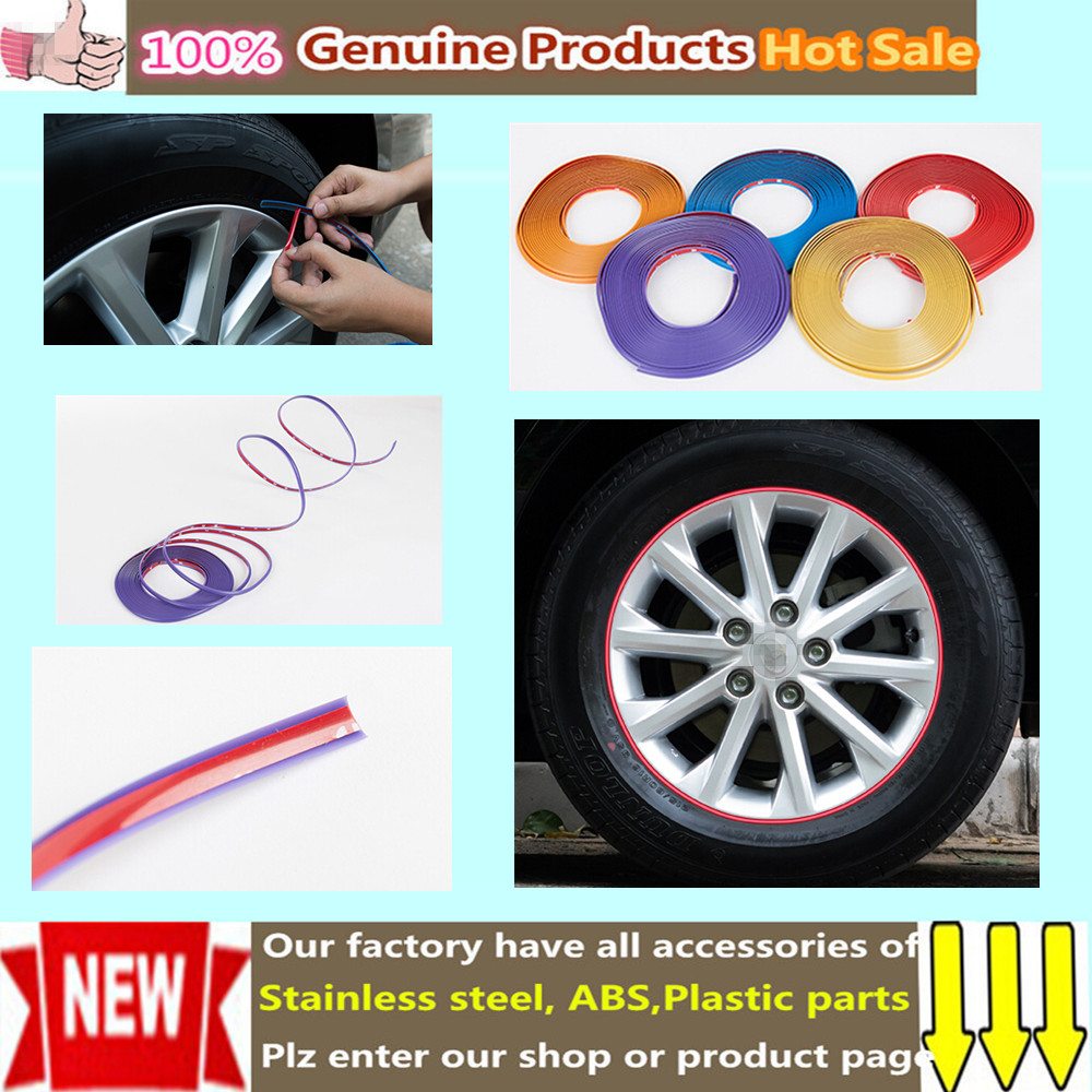 Personality Universal protection ring rubbing scratch-proof bumper 5 color Strip stick car tire Circle Guard 8M/roll wheel rims(China (Mainland))