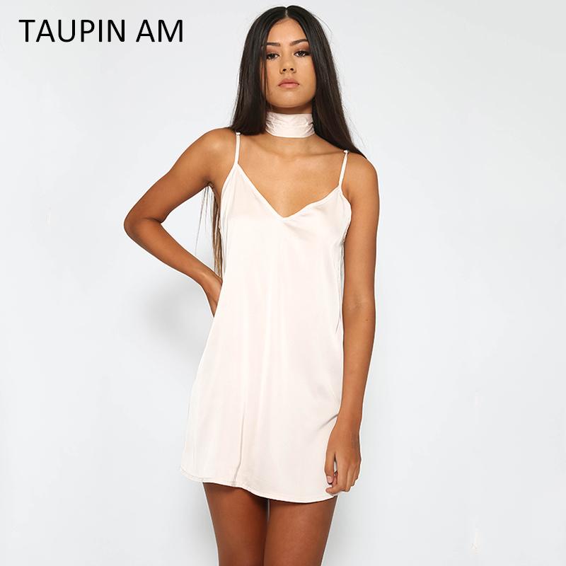 Summer fancy silk satin slip dress pajama Evening party dresses ...