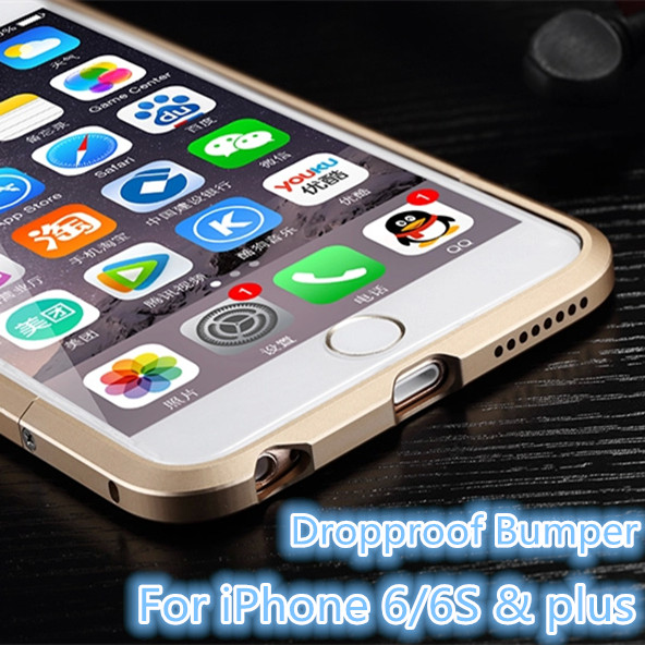 For iPhone 6 Deluxe Aluminum Frame shockproof metal Bumper For iPhone 6S plus Luxury phone cover dropproof shell Luphie(China (Mainland))