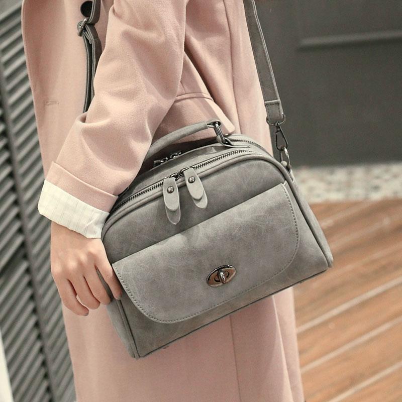 2016 New Style Women Messenger Bag Female Single Shoulder Street Bag Fashion Trend Style PU Leather Small Handbag(China (Mainland))