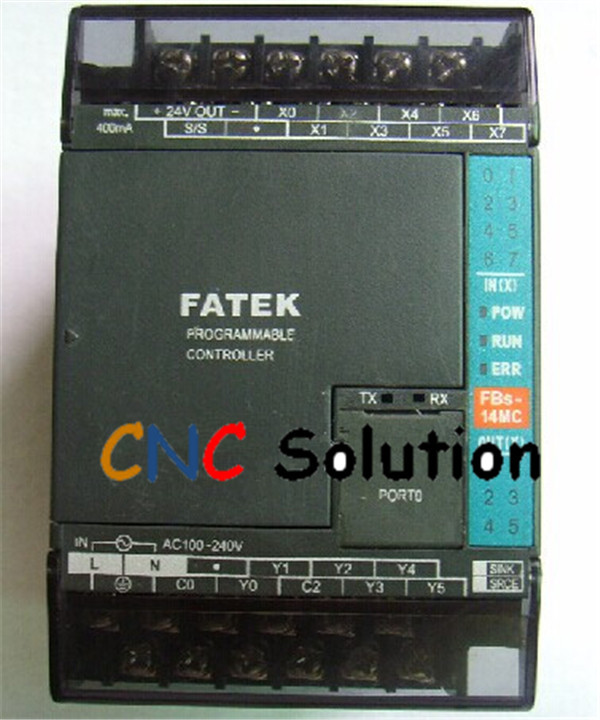 PLC AC220V 8 DI 6 DO transistor Fatek FBs-14MAT2-AC New with Program cable<br><br>Aliexpress