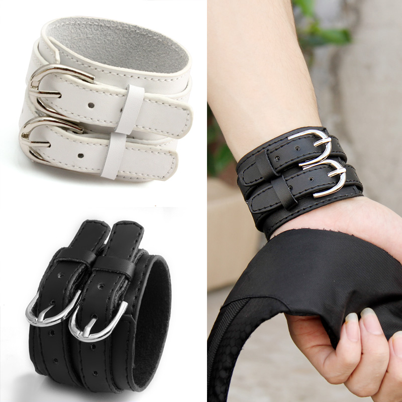 Vintage fashion punk genuine leather bracelet men Women wirst bracelets