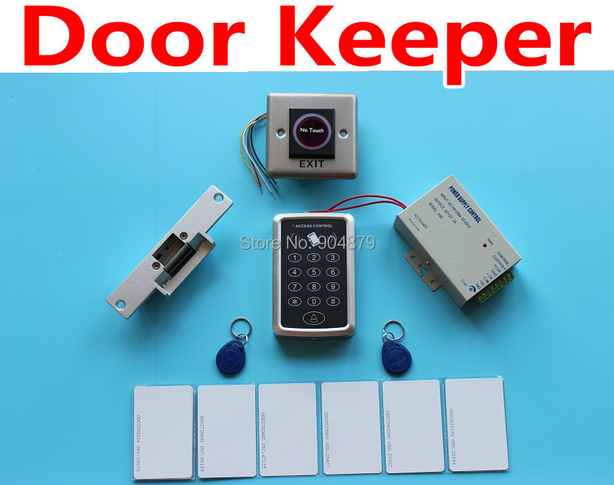 Door Keeper Secuiry Access Control System Full RFID Kit Se+Door Strike Door Lock RFID+ Magnetic + ID Card Keytab + Power supply(China (Mainland))