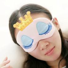 1 PC Cute Women Lady Gilrs Baby Long Cilia & Crown Fantasy Eyes Cover Travel Face Traveling Sleeping Blindfold Shade Eye Mask(China (Mainland))