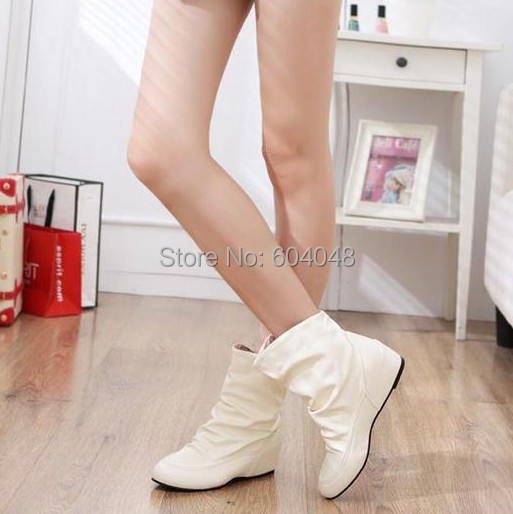 Гаджет  Boots female spring and autumn 2012 elevator wedges boots red beige boots None Обувь