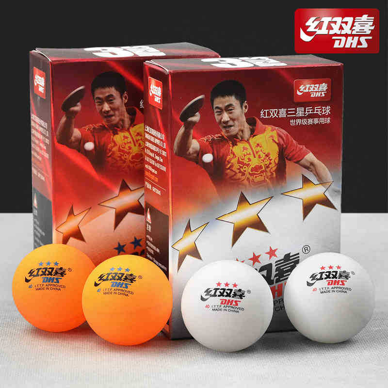 Special counters authentic fortune 3 star 40 mm ball huangbai international table tennis 6 pack FREE SHIPPING(China (Mainland))