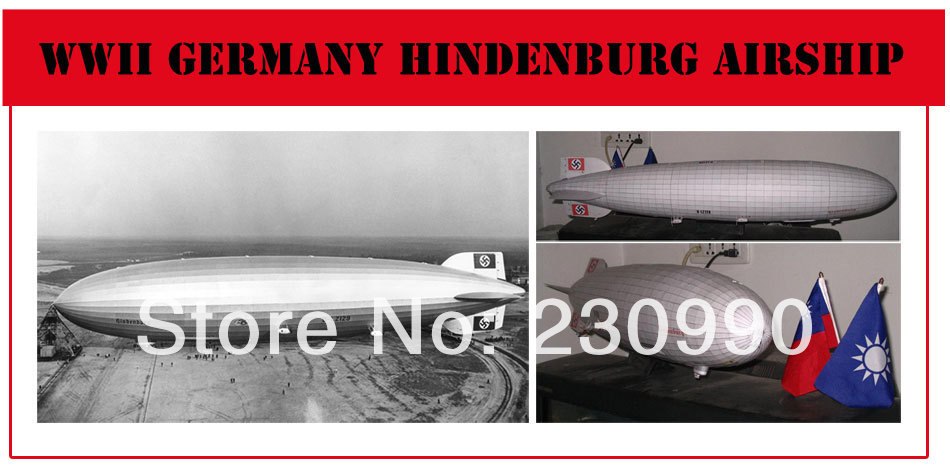 WWII Germany Hindenburg Airship Airplanes Weapons 3D Paper Craft Scale Models DIY Assembled Paper Modeling Toys For Children<br><br>Aliexpress