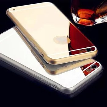 Luxury Phone Cases for iPhone 5s 5 Hybrid Plated PC Soft Silicon Fashion Gold Silver Mirror Back Cover Shell Cases for iPhone5 s