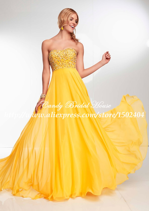 Yellow And Gold Prom Dresses 63
