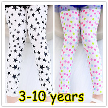3 10Y girl leggings long pants flowers butterfly slim princess good quality children under pants 7