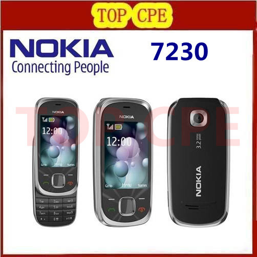 NOKIA Original Unlocked 7230 Free Shipping 3.2MP Camera Original Refurbishe 7230 3G mobile phone 1 year warranty(China (Mainland))