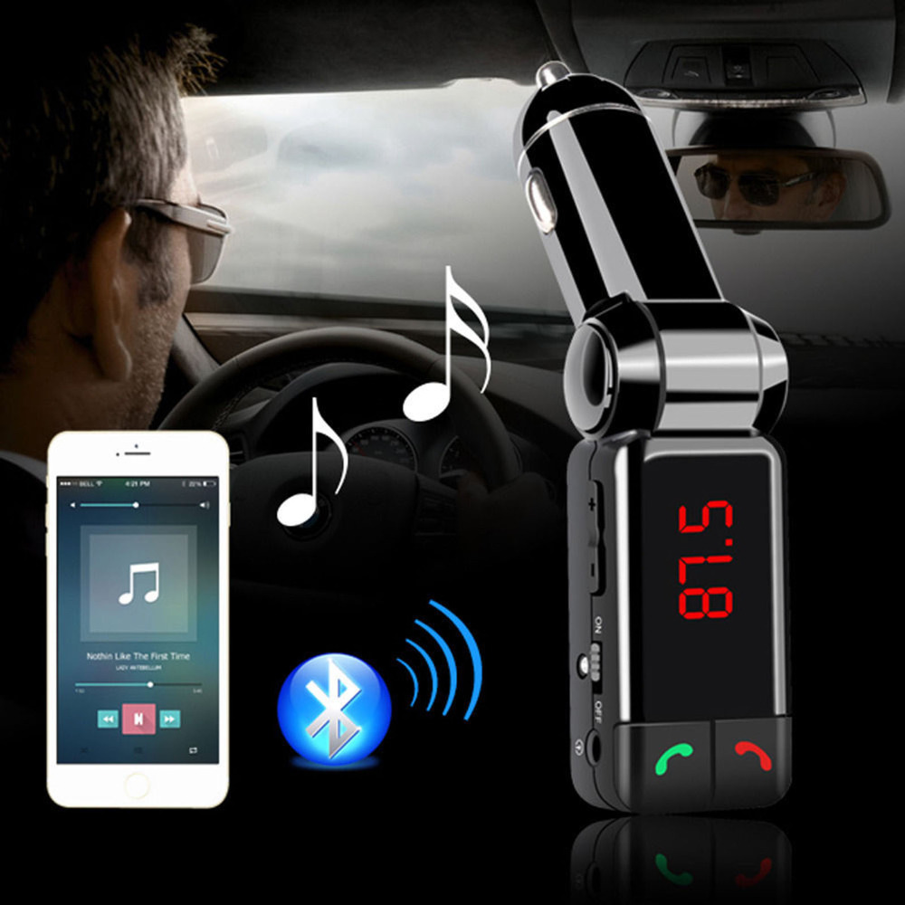 Car MP3 Player Bluetooth FM Transmitter Wireless FM Modulator HandsFree Car Kit LCD Display USB Charger for iPhone Samsung(China (Mainland))
