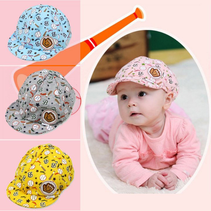 3 - 24 Months Baby Character Caps Unisex Letter & Star Spring and Autumn Cap Cute Baseball Cap Sun Visor Cotton 42-51cm(China (Mainland))