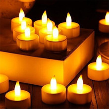 12pc LED Tea Light Candles Realistic Battery-Powered Flameless LED Candles U6811(China (Mainland))