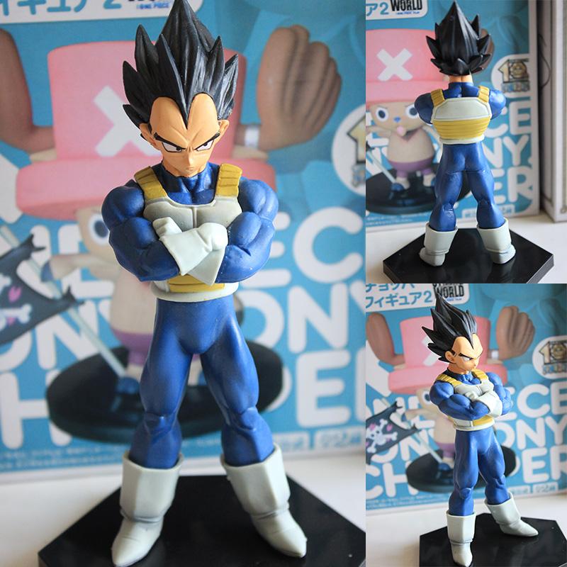 Anime Dragon Ball Super saiyan Vegeta PVC Action Figure Collectible Model doll toy 13cm 17#(China (Mainland))