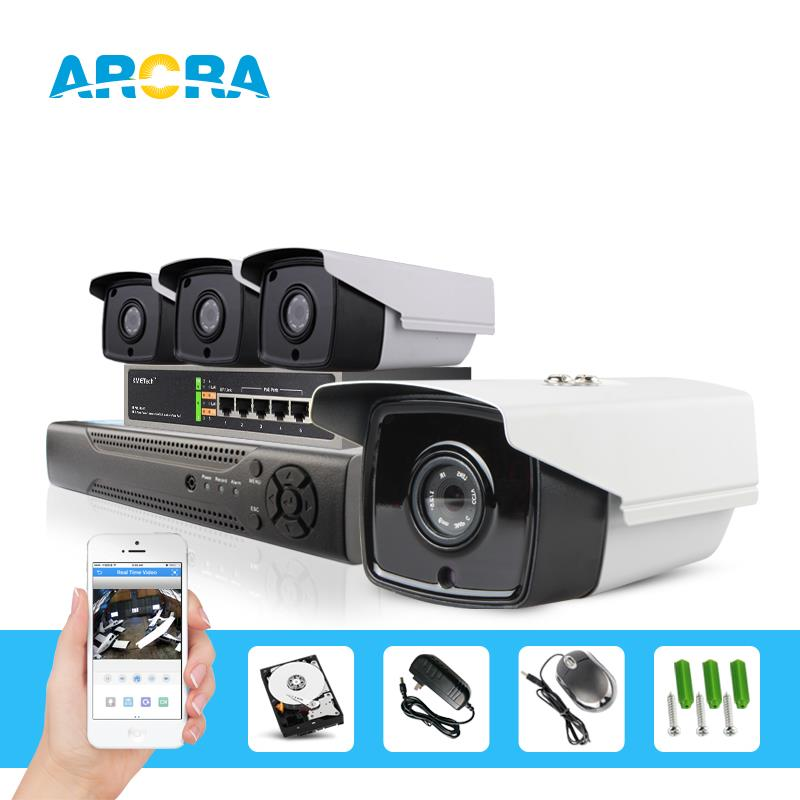 4ch 2.0Mp cctv camera system, 4 POE cameras, support 802.11at/af motion detection with email alarm. p2p cloud service, 2tb hdd.(China (Mainland))