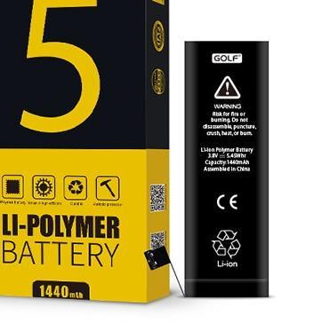 Original GOLF Li-ion Polymer Battery For Iphone 5 Standard Capacity 1440mAh With Free Machine Tools(China (Mainland))