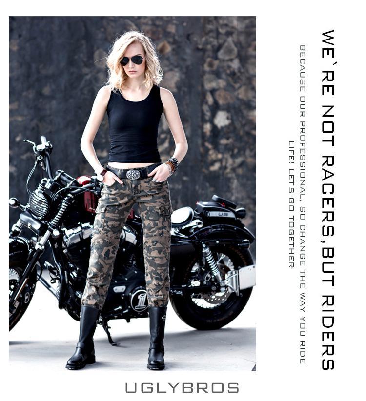 uglyBROS motorpool camo UBP07 Women camouflage pants motorcycle pants jeans casual pants<br><br>Aliexpress