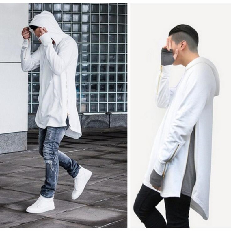 Popular Long Side Zipper Hoodie Men-Buy Cheap Long Side Zipper ...