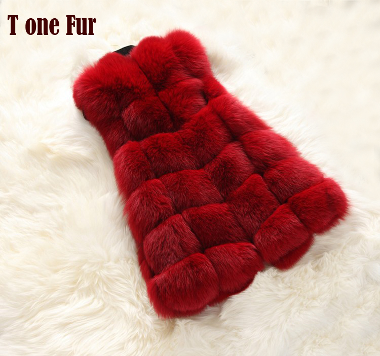 New Faux Fur Long Vest Luxury Fur Vest For Women Free Shipping FP365(China (Mainland))