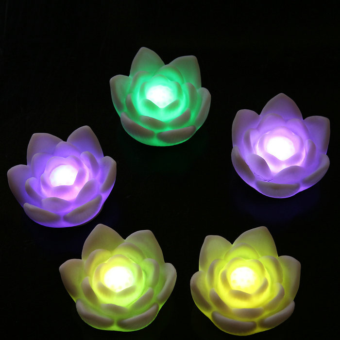 LED Lotus Flower Lights Romantic Love Floral Mood Lamp Night Light for Childer Changing Home Decoration(China (Mainland))