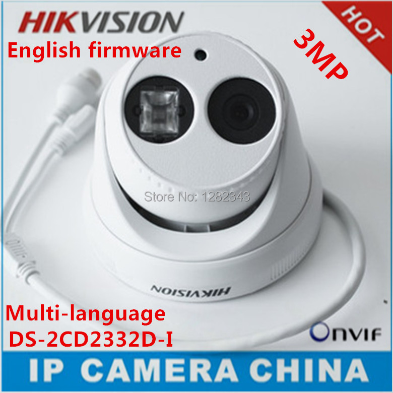 Камера наблюдения HIKVISION Hikvision IP ds/2cd2332d/i 4 3MP HD 1080P CCTV IP66 DS-2CD2332D-I hikvision international version ds 2cd1031 i replace ds 2cd2032 i 3mp ip mini bullet camera support ezviz poe ir 30m outdoor