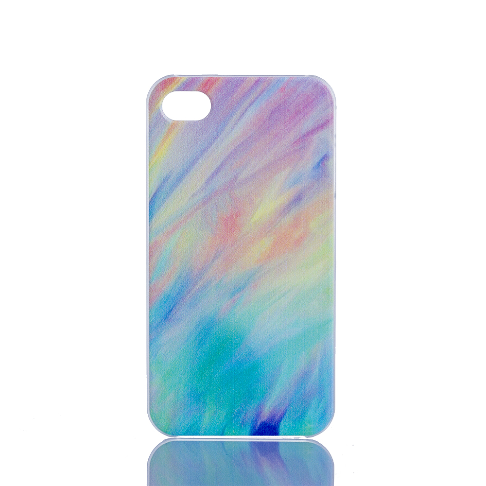 Multi-Color RainBow Design Hard Plastic Protective Mobile Phone Case Cover Iphone 6 6S 4.7'' 6Plus 5 5S 5C 4 4S - ShoppingBar store