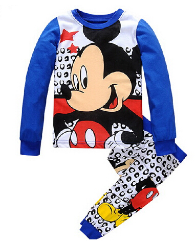 Kids Pajama Sets mickey Boys Sleepwear 2 7 Years Girls Pijamas Suit Children pyjama T shirt