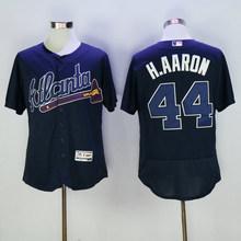 Majestic Men's Atlanta Braves Freddie Freeman Deion Sanders Hank Aaron Dale Murphy DANSBY SWANSON jerseys(China (Mainland))