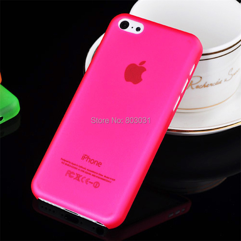 Red 0.3MM Ultra Thin Slim Matte Apple iPhone 5C Cover Case Moblie Phone Protection Shell - ITECH TRADING STORE store