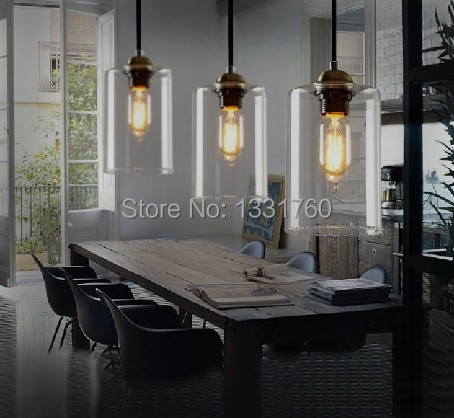 Dining room living room bar pendant light modern glass pendant lamp vintage bulb modern crystal - Modern pendant lighting for dining room ...