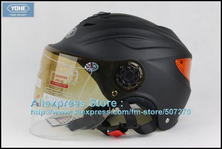 YH-339-W New Half Vespa Cycling Open Face Motorcycle Open Face Matt Black Helmet , Safety Helmet , Racing Helmet(China (Mainland))
