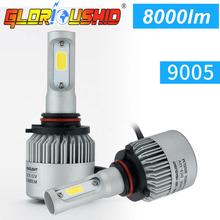 Buy One set Car Lamp H4 H7 H3 H11 H1 9005 9006 COB LED Car Headlight Bulb Hi-Lo Beam 72W 8000LM white 6500K Auto Headlamp H1 xenon for $24.15 in AliExpress store