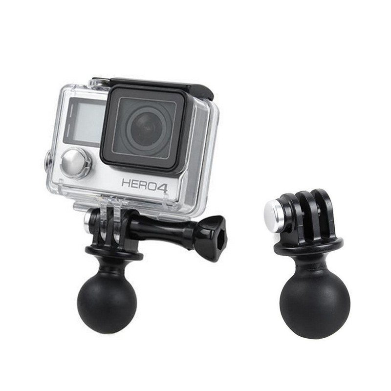 Action Camera Accessories Ball Head Base Adapter Holder Tripod Mount 360 Degree Rotation for Gopro Hero 2 3 3+ 4 for Xiaomi Yi