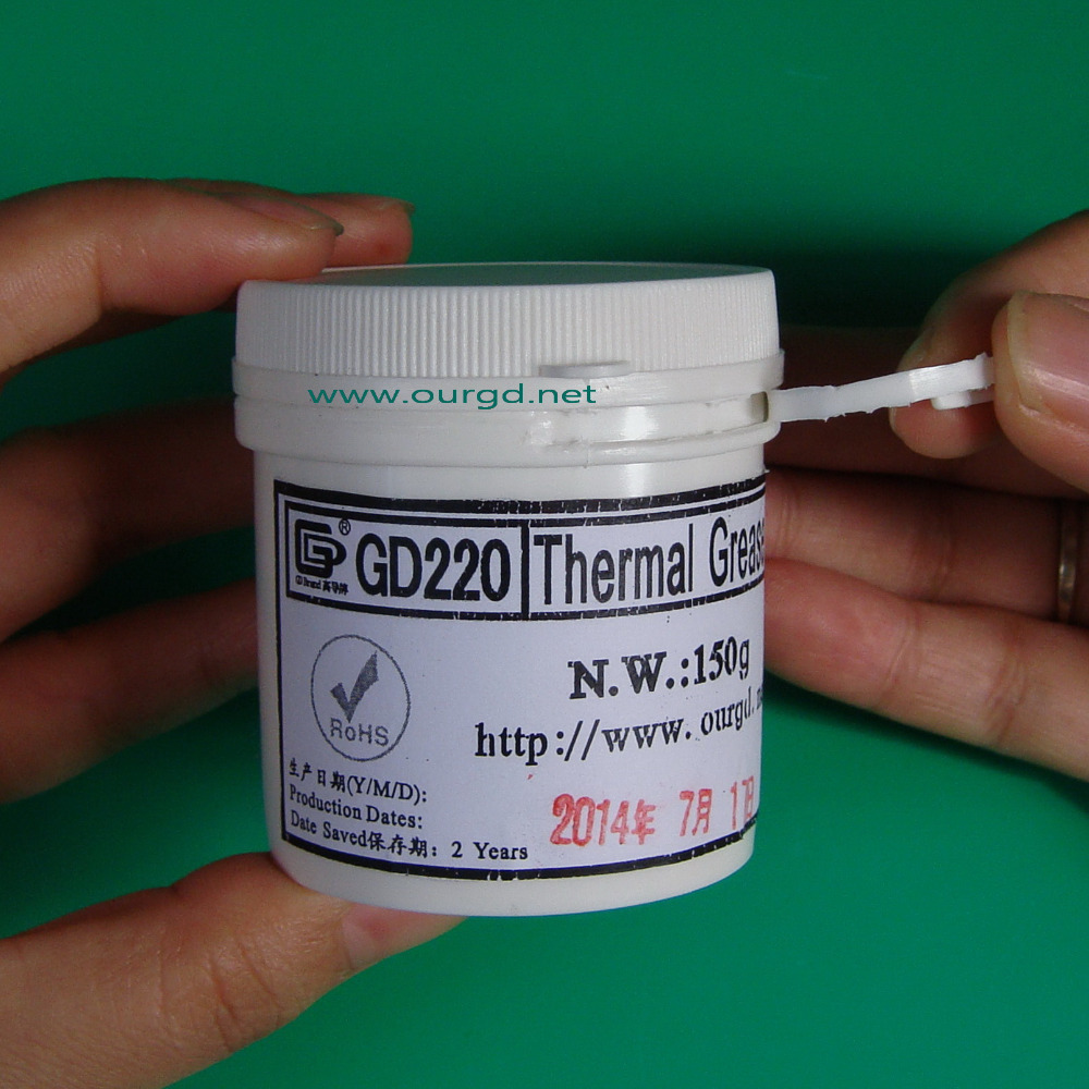 Гаджет  Free shipping 150g gray GD220  thermal conductive compound grease paste silicone for cpu heatsink None Компьютер & сеть