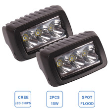 2PCS 15W Offroad LED Work Light Bar 3'' Driving Fog Lamp Car ATV SUV 4WD UTE 4X4 Motorcycle Truck Auto 4wd Headlight Spot Flood(China (Mainland))