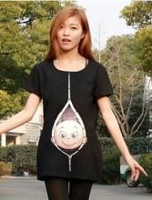 Fashion Pregnant Maternity T Shirts Casual Pregnancy Maternity Clothes With Baby Peeking Out  Funny Maternity Shirts 100% Cotton(China (Mainland))