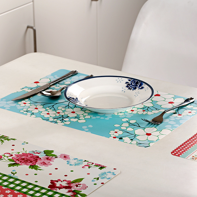 28*43cm Korea Floral Square Placemats Dining Tables Place Mats Pad Tableware Utensil Restaurant Catering Accessories Supplies(China (Mainland))