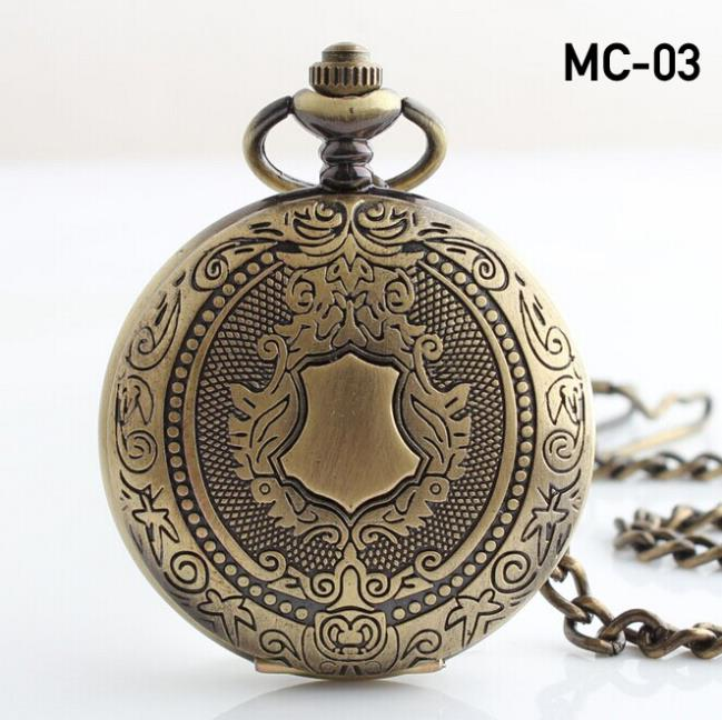 NEW Antique Vintage Bronze Skeleton Pendant Chian steampunk mechanical pocket watch Hand winding Pendant Pocket Watch