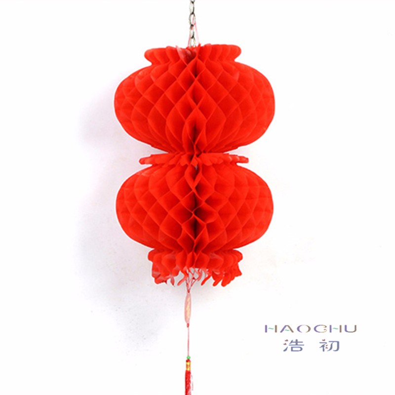 Chinese style Traditional Red Plastic Paper Honeycomb Lanterns Happy New  Year Handicraft Garden Home Decor Chinatown Festival - us105 7b302031dc