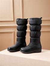 FEDONAS Mùa Đông 2020 Thời Trang Mới Bò Bằng Sáng Chế Da Nữ Dài Giày Dây Kéo Nữ Đầu Gối Cao Giày Cao Gót Giày người phụ nữ(China)