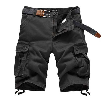 New 2015 Brand Men's Casual Camouflage Loose Cargo Shorts Men large Size Multi-pocket Military Short Pants Overalls 4 Colors(China (Mainland))