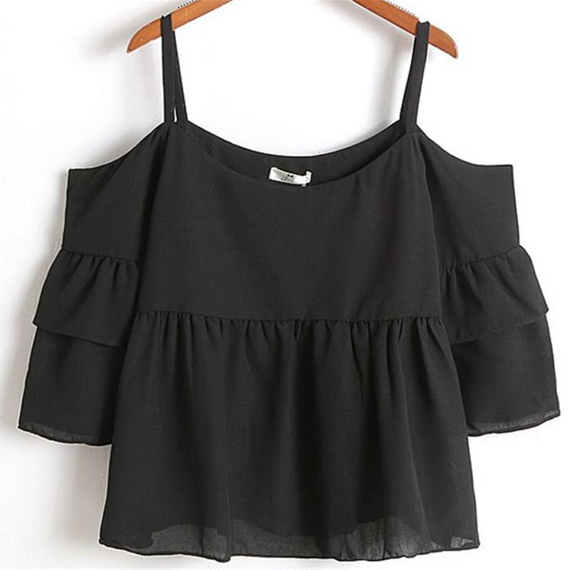 Free Shipping 2015 New Hot Shirts Summer Style Sexy Strapless Lotus Sleeve T Shirt Women T Shirts Tees T-Shirts Tops 2205(China (Mainland))
