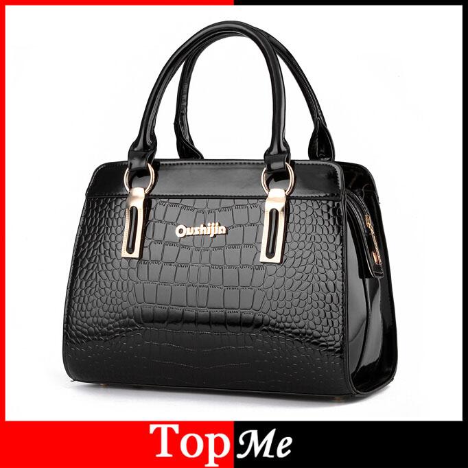 Fashion Womens Handbags Brand Crocodile Genuine PU Leather Zipper Lady One Shoulder Bag Casual Messenger Totes Bags Case Purses<br><br>Aliexpress