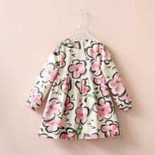 Girl Dress Princess Dress Fashion Flower Print Girls Dresses for Girl kids Clothes Girls
