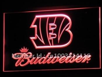 b272-r Cincinnati Bengals Budweiser LED Neon Light Sign