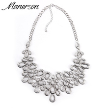 Buy 2016 ZA New Fashion Necklace Pendant Statement Vintage Collar Women Hollow Antique Choker Silver Gold Maxi Collier Femme Jewelry for $6.29 in AliExpress store