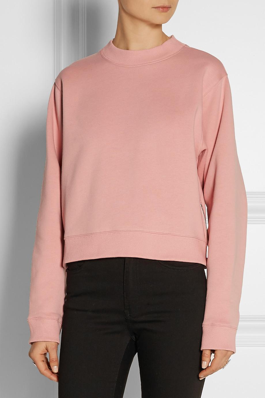 Здесь можно купить  2015SS Autumn NEW Women Solid Color ACNE Design Studios Original Side zipper Cotton Hoodies Sweatshirt Long Sleeved Pullovers  Одежда и аксессуары