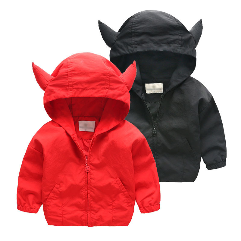 Acitonclub 2016 Baby Boys Jackets Children Hooded Fox Cartoon Printed Boys Outerwear 2-6T Kids Windbreaker Spring Autumn Clothes(China (Mainland))